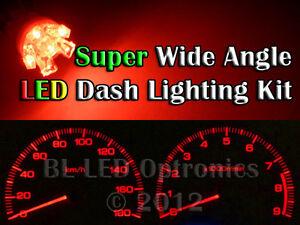 Red LED Dash Kit For Subaru Impreza WRX MY94 MY95 MY96 MY97