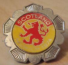 SCOTLAND MUNICH 1974 WORLD CUP insert Badge Brooch pin Chrome 34mm x 34mm