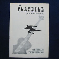 TENNESSEE WILLIAMS Orpheus Descending BROADWAY PLAY