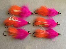 6 Articulated Hareball Leech Steelhead Salmon Spey Fly Fishing Flies Hook Rod #1