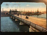 Vintage Postcard>1910>New Bedford and Fairhaven Bridge>Massachusetts