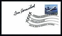 Dan Carmichael DEC. WWII Fighter Pilot Ace-13V Signed First Day Cover FDC E12951