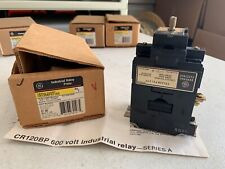 One (1) Genuine GE CR120BP01103 Industrial Relay 10 Amp 600V, NOS