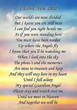 I Love You Dad Memorial Graveside Poem Card & Free Ground Stake F127