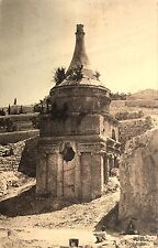 Vintage Postcard: Absalom's Pillar and Mary's Well, Jerusalem, Israel ca. 20s