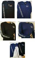 Emporio Armani EA7 Men's Long/Full Sleeve Arm Print Crew Tee/S/M/L/XL/XXL