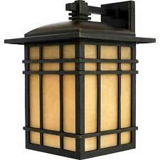 """New Large Quoizel HC8411IB Hillcrest Mission Craftsman 16""""H Outdoor Wall Light"""