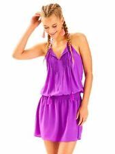 NWT $238 Lilly Pulitzer Minda Silk Dress Paradise Purple Dark Pink Magenta sz XL