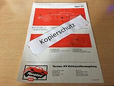 Opel GT 1100 und 1900  / Terotex Hohlraumversiegelungsplan