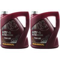2x 4 Liter Original MANNOL Getriebeöl MTF-4 Getriebeoel 75W-80 Gear Oil