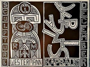 H. C. Westermann / Thomas Kapsalis ORIGINAL 1957 Exhibition Poster Chicago RARE