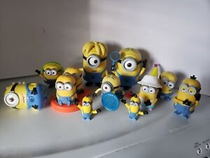 """Huge Lot Minions Deluxe 6"""" Action Figures + McDonald's Happy Meal Despicable Me"""