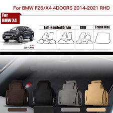 "Full Set 1/2""Thick Solid Nylon Interior Floor Carpet Mats For RHD BMW X4/F26"