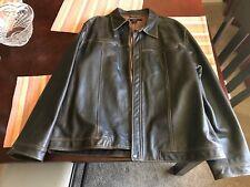 GAP Leather Jacket coat motorcycle biker Men XXL Brown