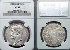 Liechtenstein 1900 5 KR, Rare Superb NGC 63, Key Date, Low Mintage 5,000 pcs
