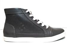 Calvin Klein Women's Martina High Top Sneakers Leather Charcoal Gray US 11