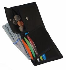Bullz Kids Boys Slim Compact Coin Pocket Bifold Wallet Black