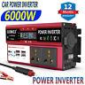 6000W Power Inverter 12V DC To AC 240V Car Caravan Converter Camping 4LCD 4USB