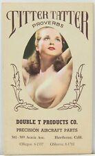 Titter Tatter Proverbs - Topless Women Art - Hawthorne Ca Aircraft Co 1950s