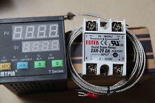 Dual Digital F/C PID Thermostat Temperature Controller TA7-SNR+K sensor+ 25A SSR