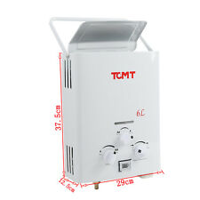 New 6L Propane Gas Instant Hot Water Heater Bath House Tankless Boiler Shower