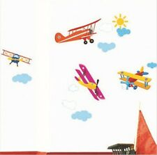 Four Air Planes Multicolor Wall Decal Sticker Home Decor Kids Room Vinyl Art