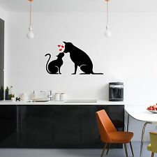 Cats And Dogs Love Heart Vinyl Mural Pet Decal Stickers Print Sticker Animals