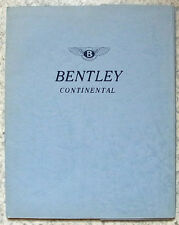BENTLEY S3 CONTINENTAL Press Media Pack Kit Photos Nov 1962