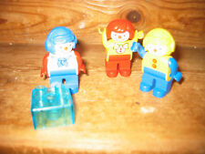 DUPLO LEGO  COLLECTIBLE CLOWNS PLAY FIGURES SIT CIRCUS GLASS CONSTRUCTION BRICK