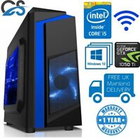 ULTRA FAST PC Gaming Intel Core i5 4440 1TB 8GB RAM 4GB GTX1050 Ti Windows 10