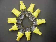 10x Ford Yellow/Amber 194 Wedge Dome Interior Exterior Side Marker Map LEDS NOS