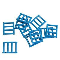 10 NEW LEGO Bar 1 x 4 x 3 with End Protrusions Dark Azure