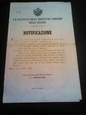 Mantova 1857 Lombardo veneto confini comuni e frazioni elenco paesi nella descri