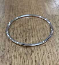 Handmade Solid Sterling Silver Bangle - Golf, Round Wire Design 27.6 grams
