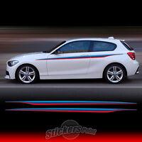 2 adesivi strisce fasce BMW serie1 sticker M PERFORMANCE E87 E88 F20 F21 E81 E82
