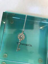 "Tiffany & Co Daisy key pendant/necklace  Diamond. Authentic. Chain 16"" chain"