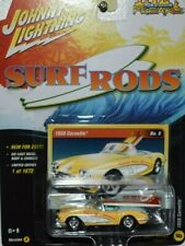 '58 CHEVY CORVETTE YELLOW SURF RODS JOHNNY LIGHTNING STREET FREAKS LIMITED