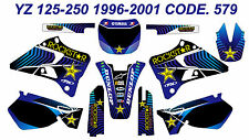 579 YAMAHA YZ 125-250 1996-2001 Autocollants Déco Graphics Stickers Decals Kits