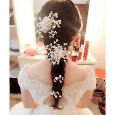 Barrettes à cheveux Accessoires bonheur esthétique perle crystal nouvelle mariée
