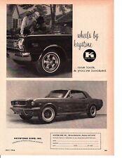 1966 PLYMOUTH SATELLITE & 1966 FORD MUSTANG  ~  NICE ORIGINAL KEYSTONE AD