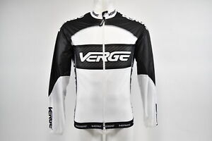 Verge Men's Small Primo Light Wind Cycling Jacket, White/Black/Carbon