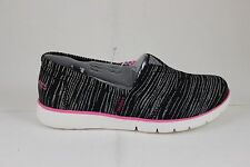 Skechers Girl's Pureflex Shimmer Stripes Black/Hot Pink 85623L/BKHP Brand New