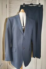 """REMUS UOMO Suits Blue Pinstripe 42""""R  W36"""" L30"""" Single Breasted"""