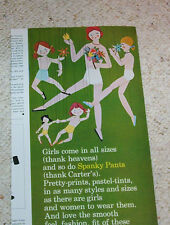 1964 ad - Carters little girl Spanky Pants Panties underwear vintage advertising