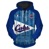 CHICAGO CUBS Hoodie Zip Up Zipper Hooded Pullover S-5XL Baseball 2019 NEW