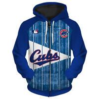 CHICAGO CUBS Hoodie Zip Up Zipper Hooded Pullover S-5XL Baseball Team Fans NEW