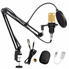 BM-800 Condenser Microphone Kit Studio Audio Mic Recording Arm Stand Shock Mount