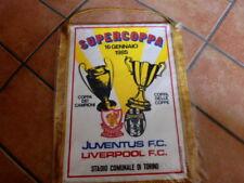 JUVENTUS LIVERPOOL GAGLIARDETTO PENNANT SUPERCOPPA 1985 ORIGINAL