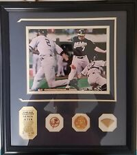 "Special Edition Derek Jeter ""The Flip"" Game Used Collection Framed Photo LIMITED"