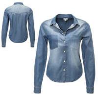 JdY Only Damen Jeansbluse Langarmbluse Hemdbluse Jeanshemd Shirt Denim NEU